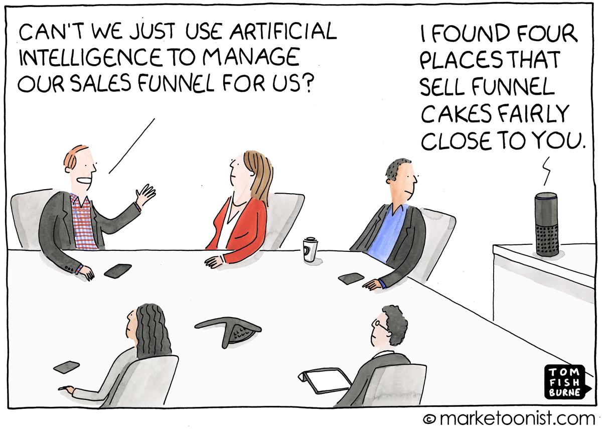 AI cartoon from marketoonist.com